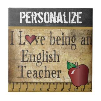 Liebe, die ein englischer Lehrer ist Kleine Quadratische Fliese