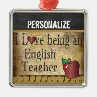 Liebe, die ein englischer Lehrer | Vintag ist Silbernes Ornament