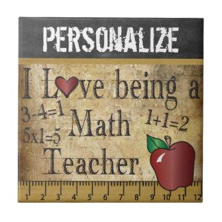 Liebe, die ein Mathe-Lehrer - Vintag ist Kleine Quadratische Fliese