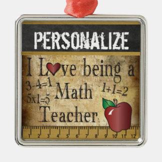 Liebe, die ein Mathe-Lehrer | Vintag ist Silbernes Ornament