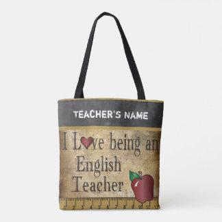Liebe, die ein Name des englischen Lehrer-| DIY Tasche