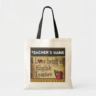 Liebe, die ein Name des englischen Lehrer-| DIY Tragetasche