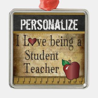Liebe, die ein Studenten-Lehrer | Vintag ist Silbernes Ornament