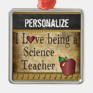 Liebe, die ein Wissenschafts-Lehrer | Vintag ist Silbernes Ornament