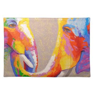Liebe die Elefanten Tischset