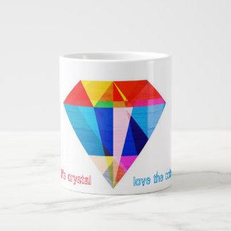 Liebe die Farben Jumbo-Tasse