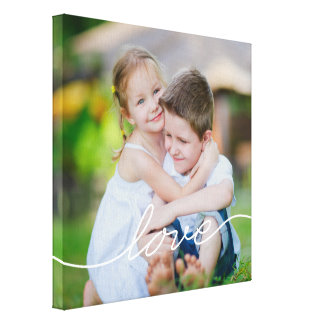 LIEBE, die kundenspezifische Foto-Leinwand Gespannter Galeriedruck