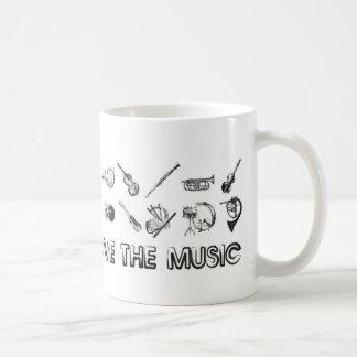 Liebe die Musik mit diesen Musikinstrumenten Kaffeetasse