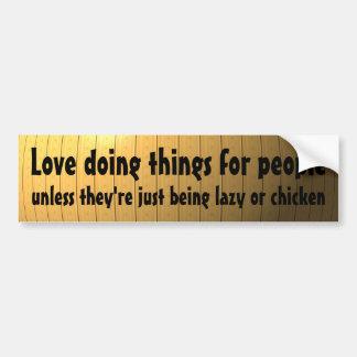 Liebe, die Sachen für Leute… tut Autoaufkleber