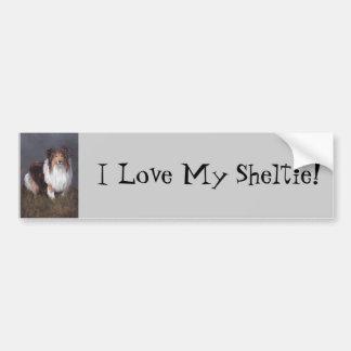 Liebe die Shetlandinseln-Schäferhund-I mein Autoaufkleber