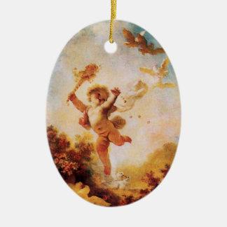 LIEBE die SPASSVOGEL-AMOR-MONOGRAMM Orange Agatha Keramik Ornament