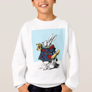 Liebe die weiße Kaninchen-Alice im Wunderland Sweatshirt
