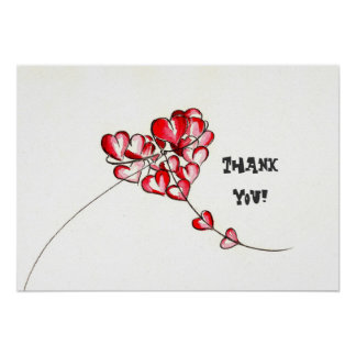 Liebe-Drachen, danke! Poster