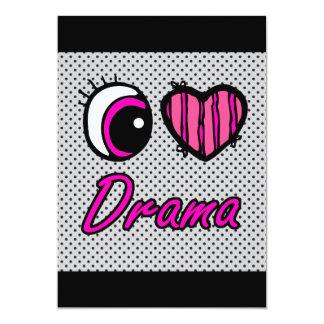 Liebe-Drama des Emo Augen-Herz-I 12,7 X 17,8 Cm Einladungskarte
