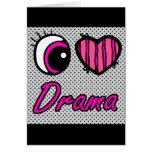 Liebe-Drama des Emo Augen-Herz-I Grußkarte