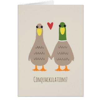 Liebe duckt Hochzeits-Glückwünsche Karte