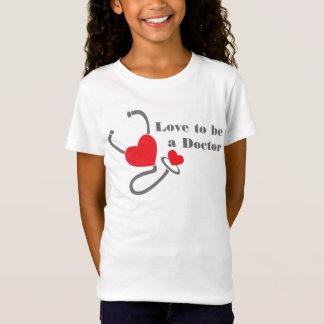 Liebe, ein Doktorstethoskop-Herz-T - Shirt zu sein