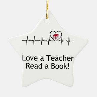 Liebe ein Lehrer Keramik Ornament