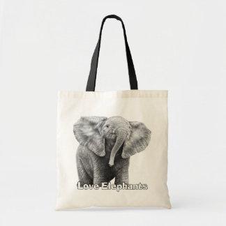 Liebe-Elefanten Tragetasche