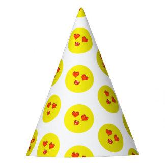 Liebe Emoji Geburtstags-Party Partyhütchen