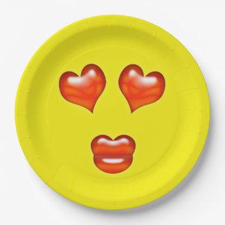 Liebe Emoji Pappteller