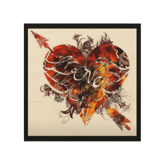 Liebe-Entwurf durch Nathan Robert Simonson Holzleinwand