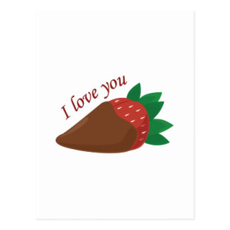 Liebe-Erdbeere Postkarte