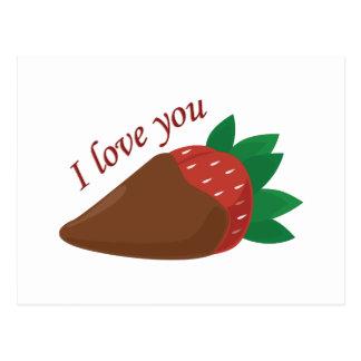 Liebe-Erdbeere Postkarten