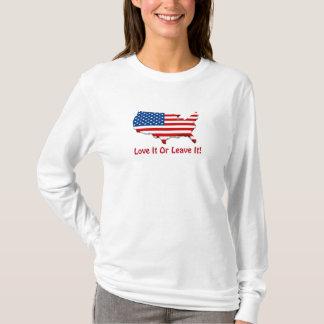 Liebe es lange Nano-Hülse T Amerikas T-Shirt