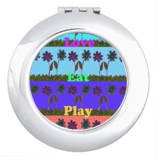 Liebe essen Spiel Hakuna Matata kompakten Spiegel Schminkspiegel
