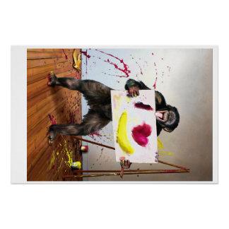 """""""Liebe etwas"""" Schimpanse 28"""" x 18,67"""" Plakat Poster"""