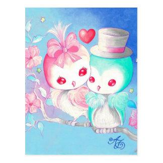 Liebe-Eulen Postkarte