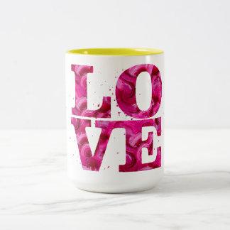 LIEBE Farbe Zweifarbige Tasse