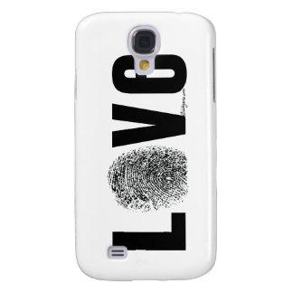 Liebe-Fingerabdruck Schwarzweiss Galaxy S4 Hülle