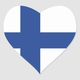 Liebe Finnland, finnische Flagge Herz-Aufkleber