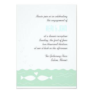 Liebe-Fische 2 12,7 X 17,8 Cm Einladungskarte