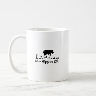 Liebe-Flusspferdelustiges Hippopotamus Loverss Kaffeetasse