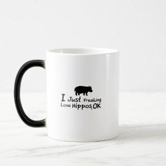 Liebe-Flusspferdelustiges Hippopotamus Loverss Verwandlungstasse
