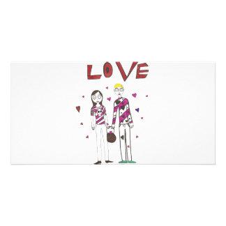 Liebe Foto Karten Vorlage