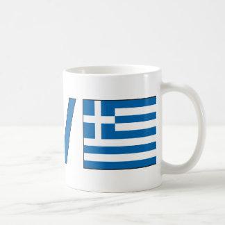 Liebe-Frieden Griechenland Kaffeetasse