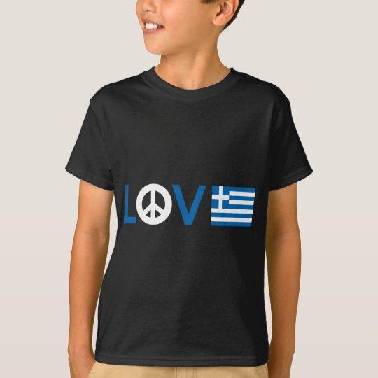 Liebe-Frieden Griechenland T-Shirt