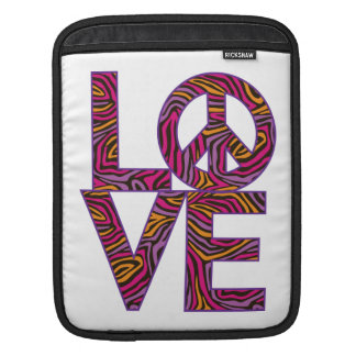 Liebe-Frieden iPad Sleeve