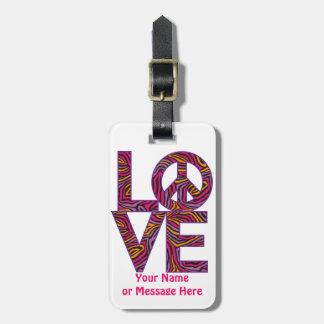 Liebe-Frieden Kofferanhänger