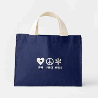 Liebe-Frieden LPN Mini Stoffbeutel