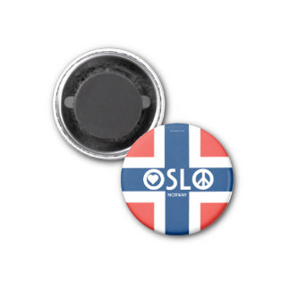 Liebe-Friedensmagnet 3 Oslos Norwegen Runder Magnet 3,2 Cm