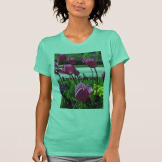 Liebe-Frühlings-Behälter-Spitze T-Shirt