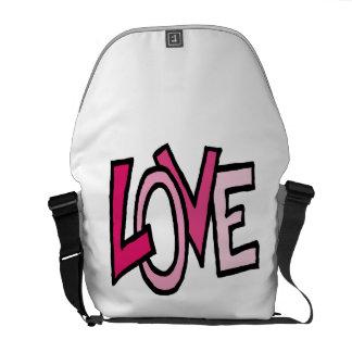 Liebe (funky Wort) Kurier Taschen