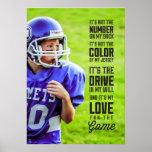 Liebe für das Spiel-Plakat mit Ihrem Foto