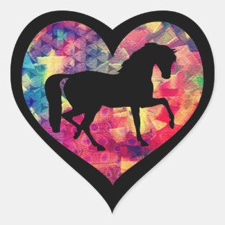 Liebe für Pferde Herz-Aufkleber