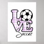Liebe-Fußball Plakatdruck
